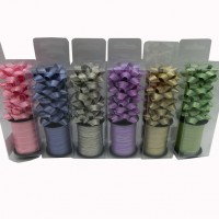 Набор  бантов д/подар упаковки из12шт( в комплекте  4шт+лента10м TYGYP-3(480)6цв