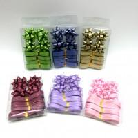 Набор  бантов д/подар упаковки из12шт( в комплекте  4шт+лента10м TYGYP-5(480)6цв