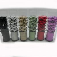 Набор  бантов д/подар упаковки из12шт( в комплекте 3шт+лента10мTYGYP-7(480)6цв