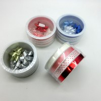Набор  бантов д/подар упаковки из12шт( в комплекте лента4шт3м+4банта PVC TYGYP-14(240)
