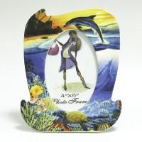"Рамка фарфор 10х15 ""Дельфины""(48)CX46D05F"