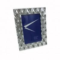 Рамка пластик 10*15 645 резная серебро(48)