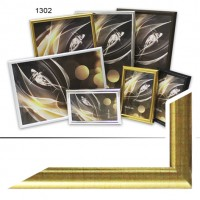 Рамка пластик А6 10*15(1302-139)золото(55)