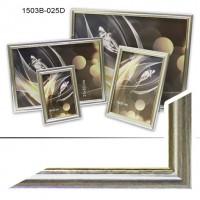 Рамка пластик А6 10*15(1503)серебро(60)
