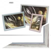 Рамка пластик А6 10*15(1503)белый (60)
