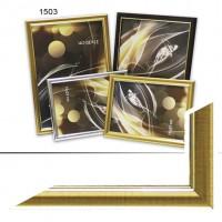 Рамка пластик А6 10*15(1503)золот(60)