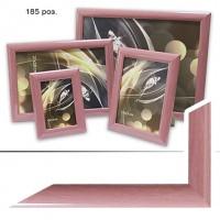 Рамка пластик А6 10*15(185)розов28мм(55)