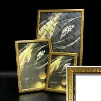 Рамка пластик А6 10*15(1904-139)золото Греческий узор18мм(40)