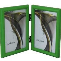 Ф/рамка вертик 1302-656зелен 2фото15*21  пластик (30)