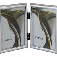 Ф/рамка вертик 1302-330сереб 2фото10*15  пластик (30)