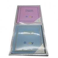 "Ф/альбом DL 400ф 10*15 ""Baby роз,голуб""2цвета(8)31525-400"