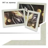 Рамка пластик А5 15*21(038)зол27мм (40)