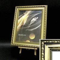 Рамка пластик40*60(6302-111)золото63мм