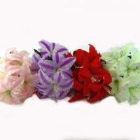 Букет  искус. цветов ЛИЛИИ  0589-2    40 см  4цвета  Бутон 15 см