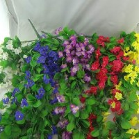 Букет искус. цветов свисающий ФИАЛКИ 100см 3576 5цветов