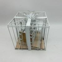 Кашпо декор из 3шт металл 22*23см(12)2018-4A-G