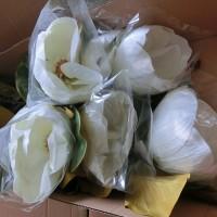 Цветок искусственный 50915 МАГНОЛИЯ 65 см  Бутон 20 см  Белый