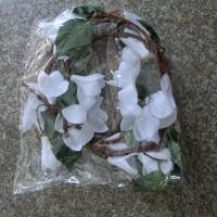 Лиана искусственная 185 МАГНОЛИЯ 200 см  Бутон 10 см  (кол-во цветов 20шт)   Белый