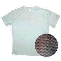 Футболка синтетик белая ложная сетка.50(XL)