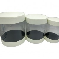 Набор коробок подар из 3шт картон+PVC Цилиндр, 25cm 0351-7(12)