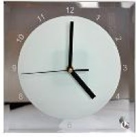 Часы стекло BL-14 сублимац.квадрат ЧАСЫ 200*200*5мм