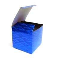 """Коробка подарочная д/кружки голография """"Синяя""""(1/300)WM037"""