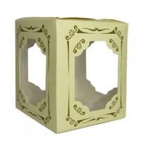 """Коробка подар д/кружки """"Резная с окнами"""" 10*10*12 10423-1(1/50)"""