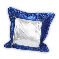 """Подушка синяя стеганная """"Думка""""38*38 квадрат"""