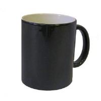 Кружка хамелеон, черная глянец 1/12/48D8,2 см H9,5