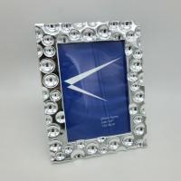Рамка пластик 13*18 841 резная серебро(48)