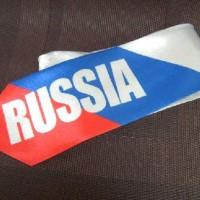 """Галстук атласный """"RUSSIA"""""""