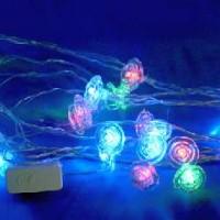 Гирлянда декоративная Розочки 28 светодиодных ламп(100)от сети220В