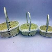 Набор корзин из 3-ох шт плетеных пластик(150) B687