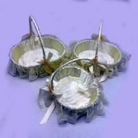 Корзинка  декорат  пластик Сердечко набор из 3 шт(45) C30