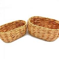 Набор корзин из 2-ох шт плетеных  дерево(1/60)A707