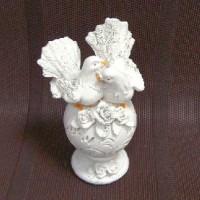 "Фигурка декорат ""Пара голубей на шаре ""  15*9*8 cm  полистоун3928(96)"
