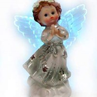 "Фигурка ""Ангел"" полистоун со светодиодами210287G(192)11*6*6см"
