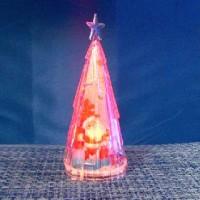 Фигурка декор пластик ЕЛОЧКА 12cm со светодеод(240)17-20