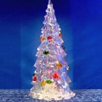 Фигурка декор пластик ЕЛОЧКА 12cm со светодиод(240)23-15