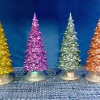 Фигурка декор пластик ЕЛОЧКА 10cm со светодиод(240)17-16