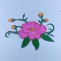 Термонаклейка ЦВЕТЫ розовые 12*14см ТН15