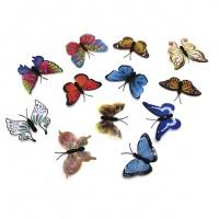 Набор магнитов   Бабочки M4  из 12 шт