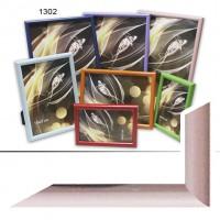 Рамка пластик А5 15*21(1302-183)розовый(40)