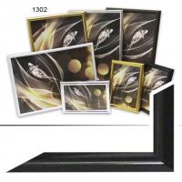 Рамка пластик А5 15*21(1302-102)черный(40)