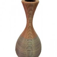 Ваза декоративная плетеная дерево 75см(1/6) XB0258-2