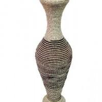 Ваза декоративная плетеная дерево 64см(1/12)09SW-073