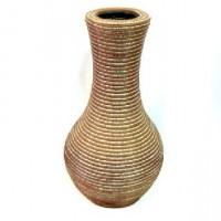 Ваза декоративная плетеная дерево 47см(1/12)XB0243-2
