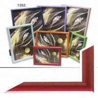 Рамка пластик А5 15*21(1302-200)красный(40)