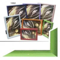 Рамка пластик А5 15*21(1302-656)зелен(40)