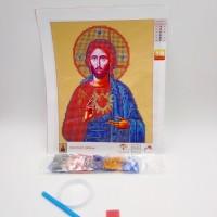 Алмазная мозаика 7514-3-06   Иисус Христос  с сердцем   Католическая